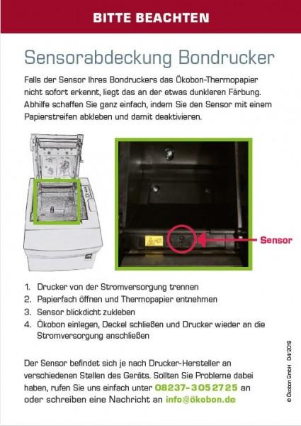 Info Sensorabdeckung mit 2 Sensoraufklebern