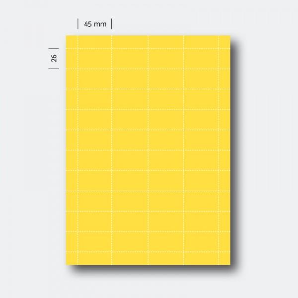 Regaletikett 26 x 45 gelb