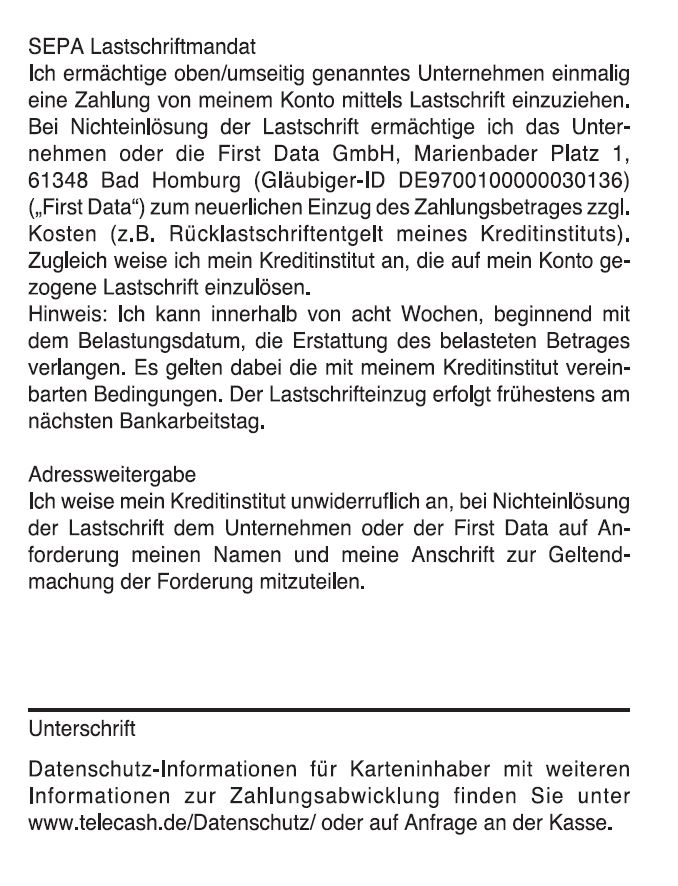 Lastschrifttext-First-Data