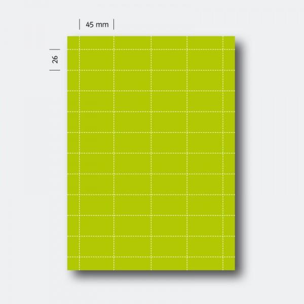 Regaletikett 26 x 45 grün