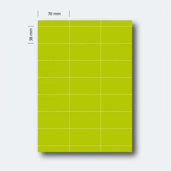 Regaletikett 38 x 70 grün